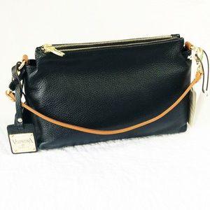 Valentina black leather handbag made in Italy NWT